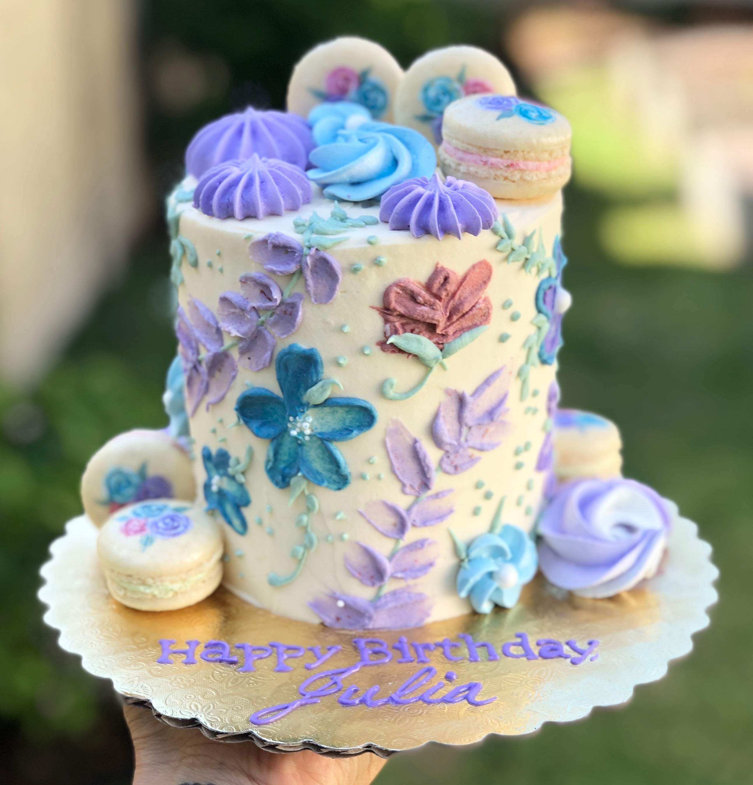 Floral Fantasy Mini Smash Cake