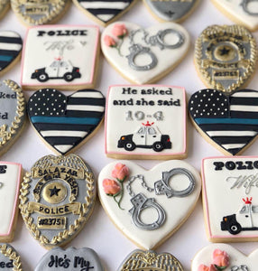 Police Wife Cookie Set