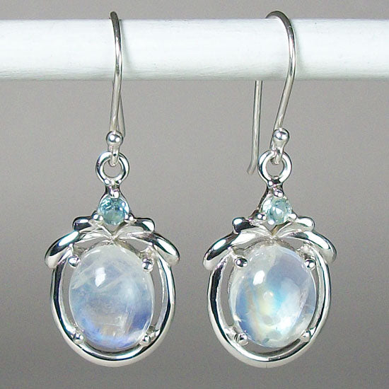 Moonstone & Topaz Earrings