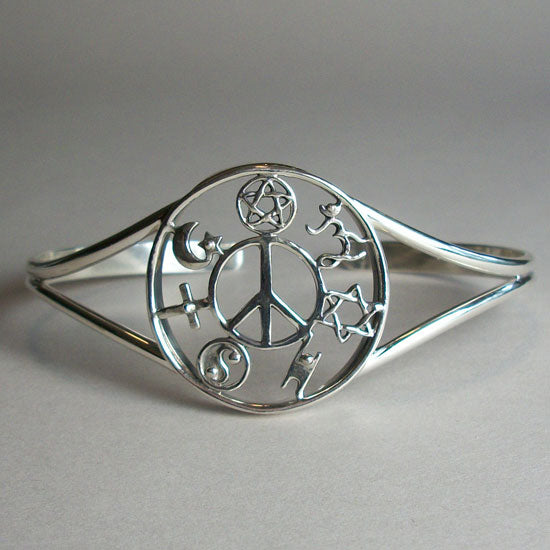 COEXIST Silver Bangle