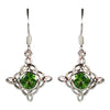Peridot Celtic Trinity Earrings