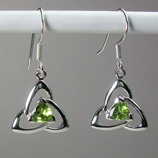 Peridot Trinity Earrings