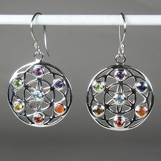 Chakra Life Flower Earrings