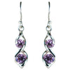 Amethyst  Double Helix Earrings