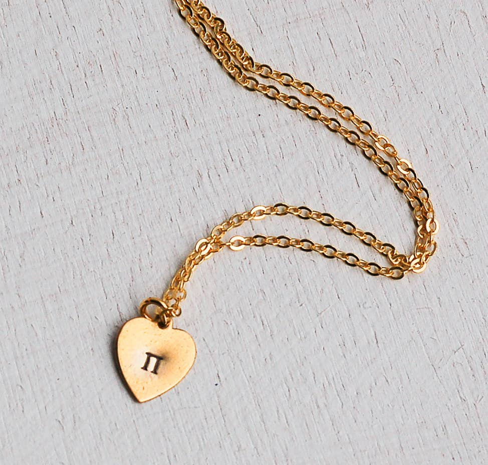 Sweet Pie Heart Necklace