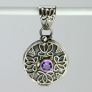 Amethyst Keepsake Locket Necklace