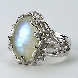 Nouveau Moonstone Ring