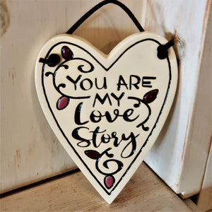 Love Story Stoneware Plaque