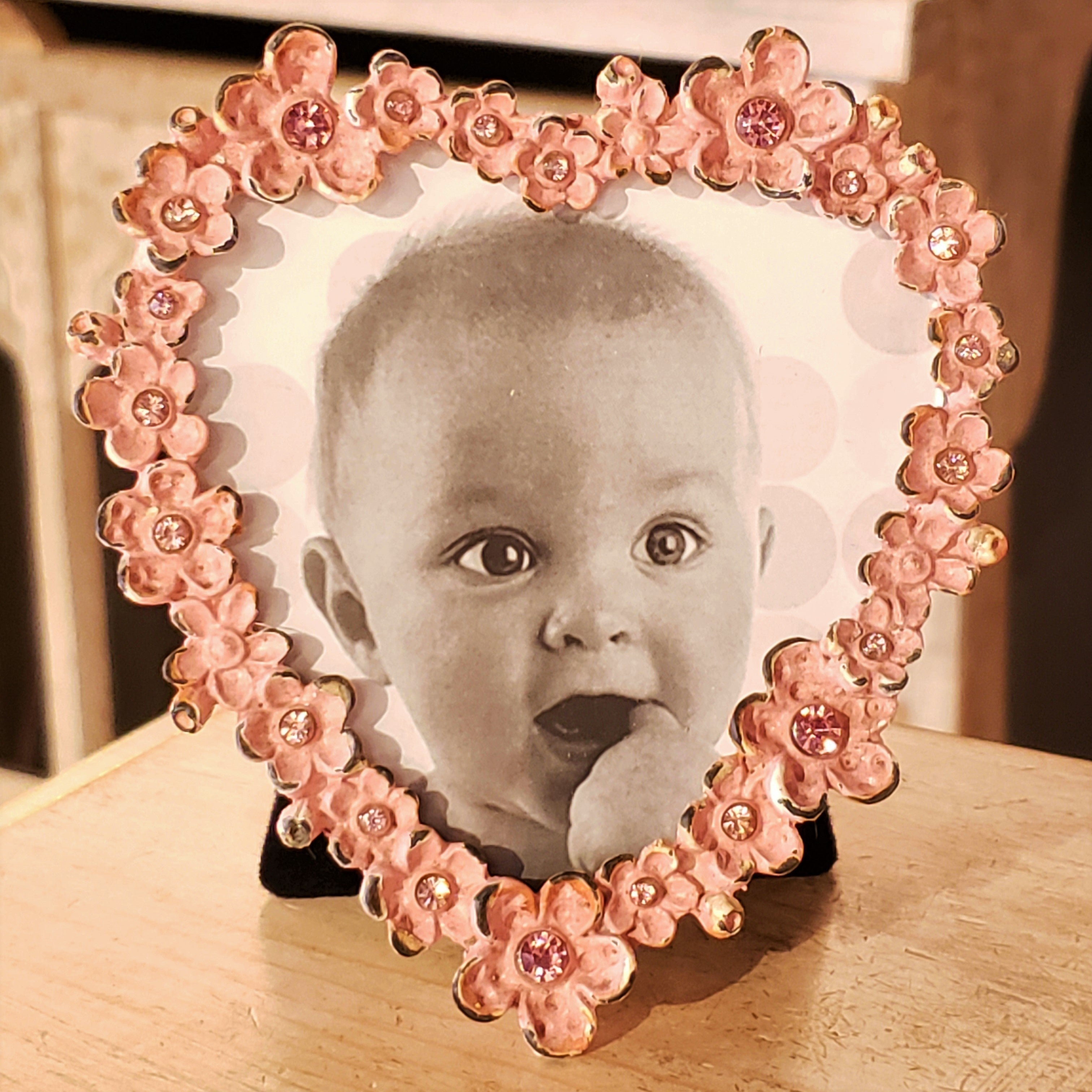 Floral Heart Photo Frame