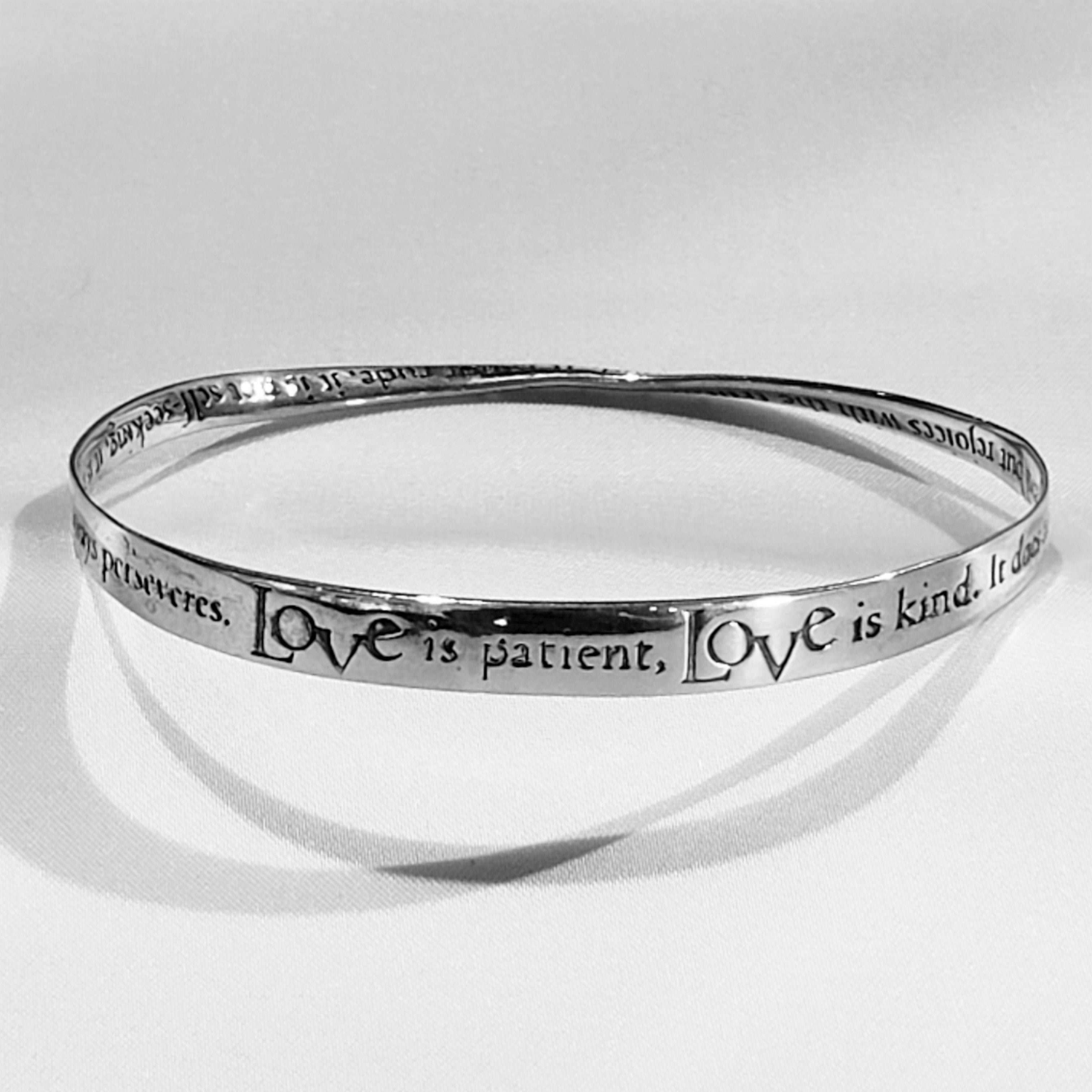 Love is Patient, Love is Kind Bangle