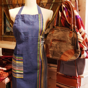 Blueberry Stripe Apron
