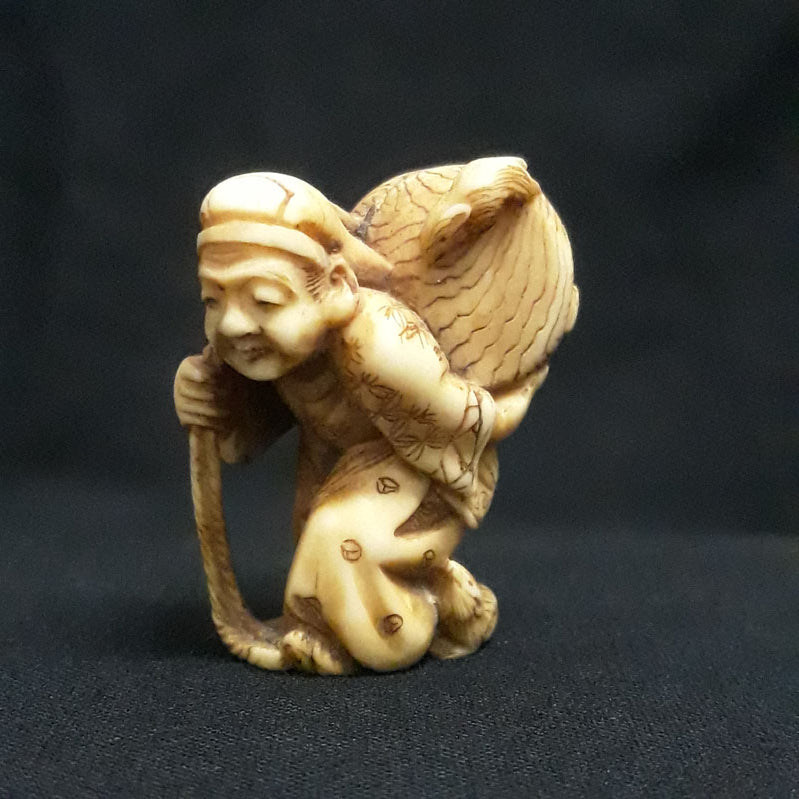 Daikoku Antique Netsuke Late 19th century Meiji Era