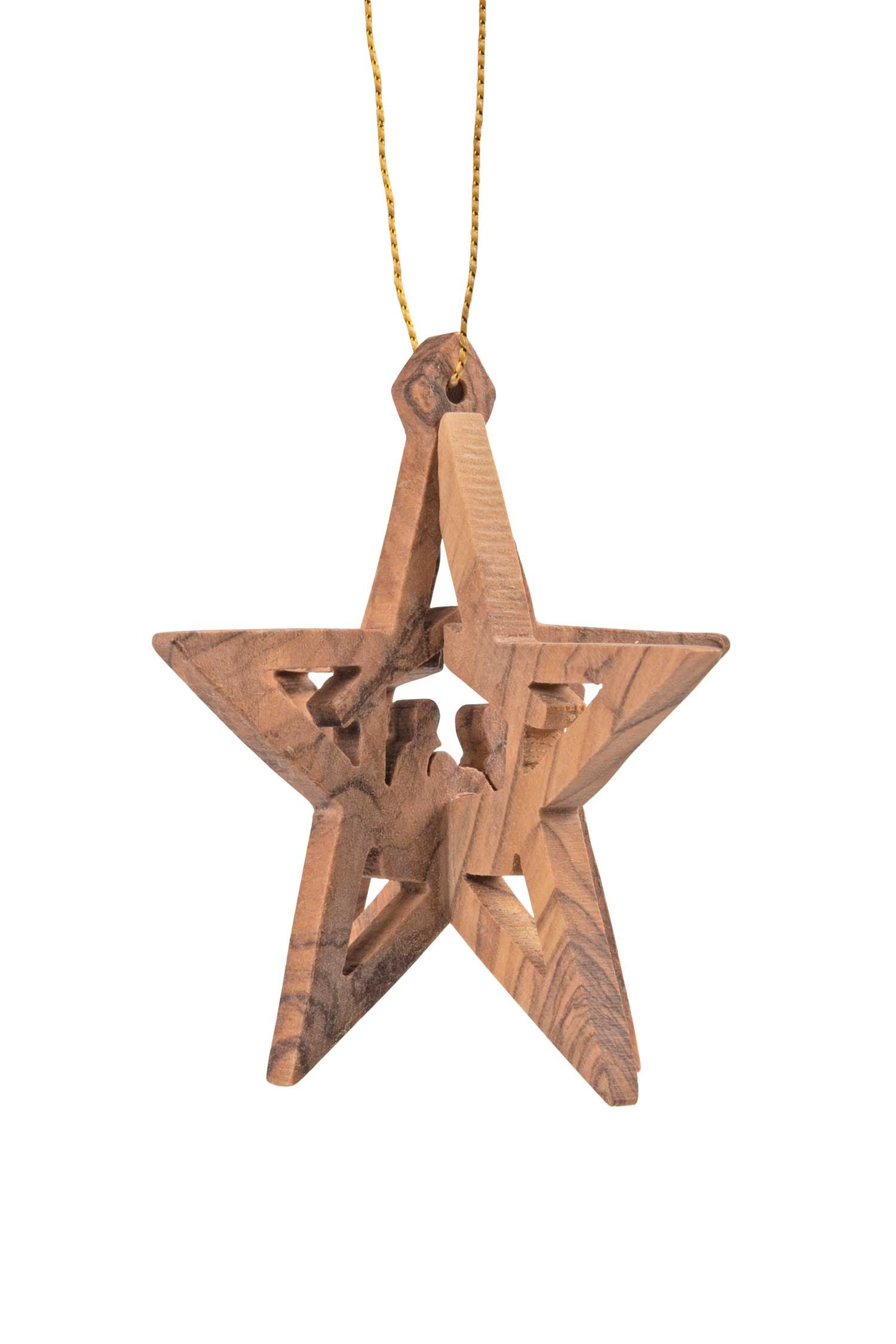 Wood Star Nativity