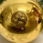 Antique German Gold Kugel Christmas Ornament 4""