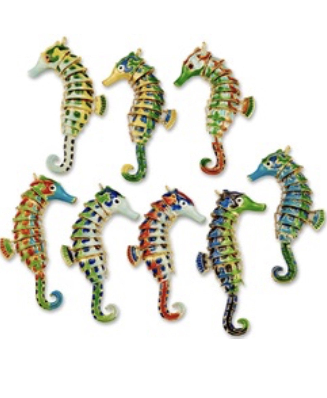 Articulated Seahorse Ornament