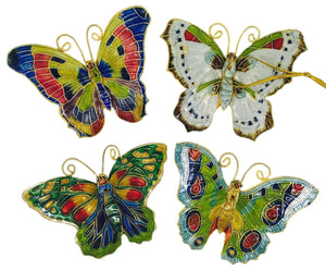 Butterfly Ornament Green Colors