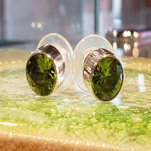 Peridot Post Earrings