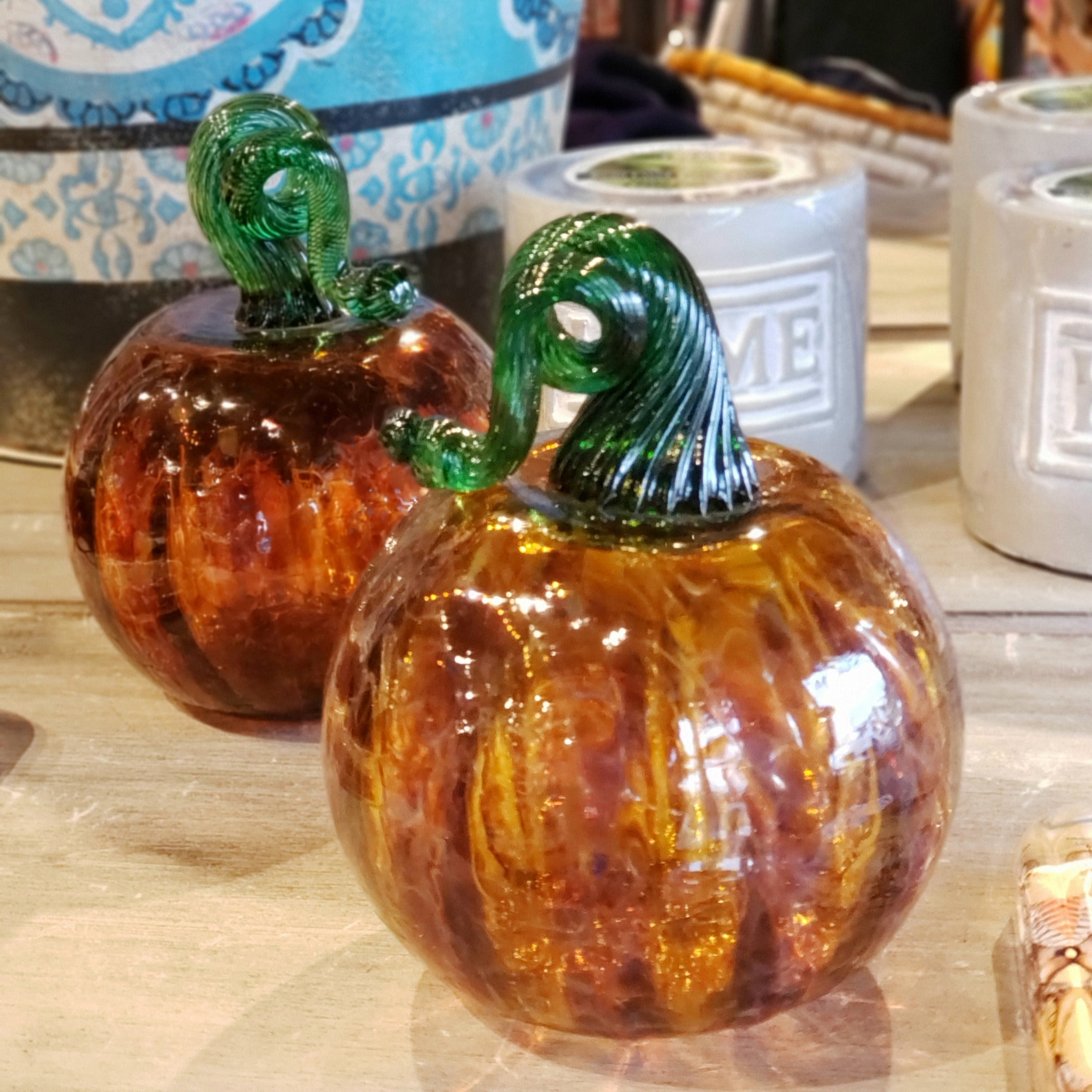 Blown Glass Pumpkin