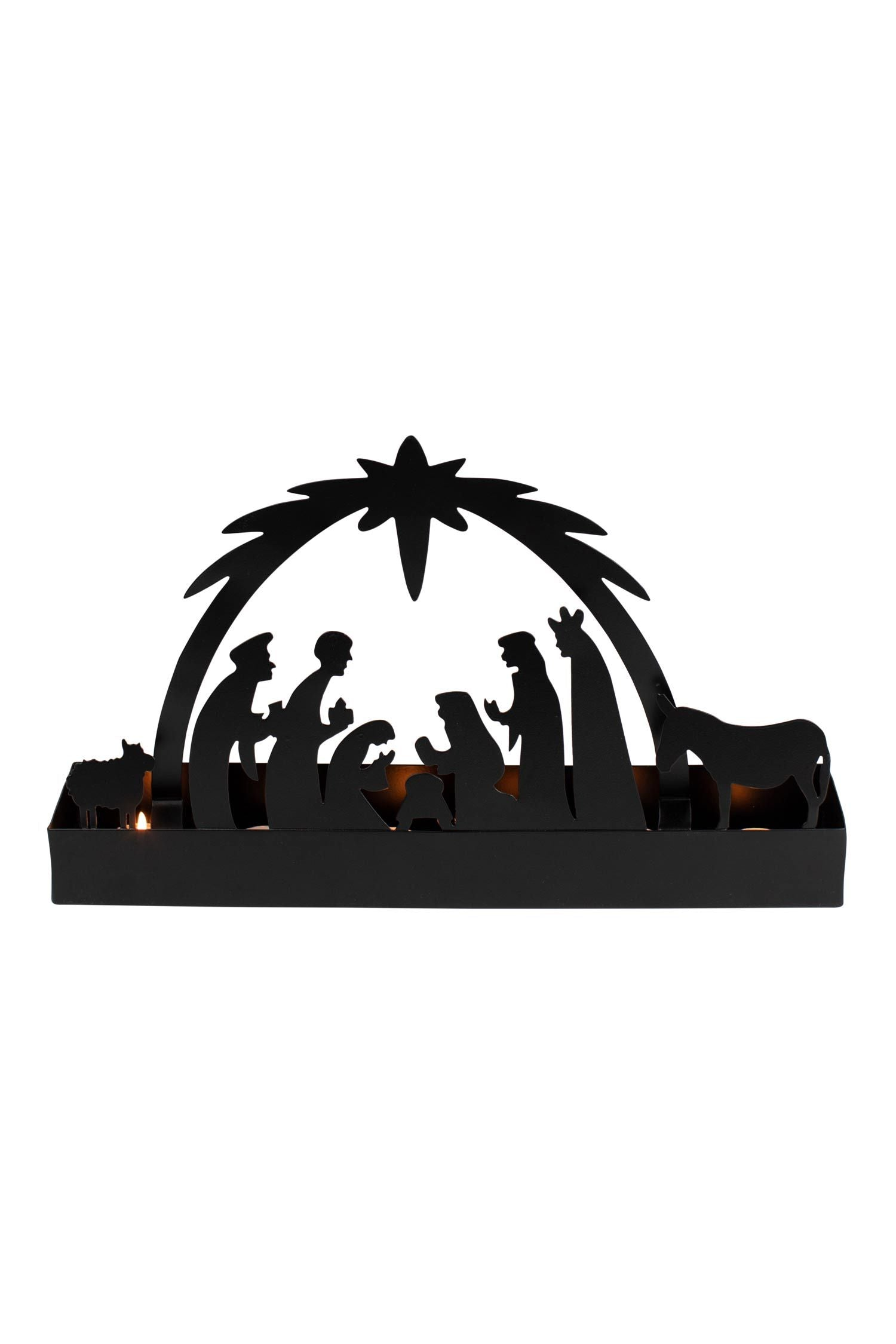 Votive Iron Nativity