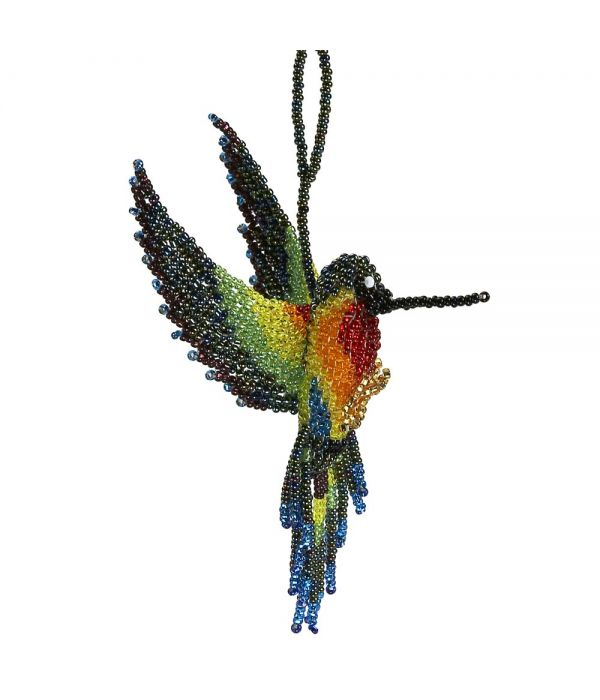 Beaded Hummingbird Ornament
