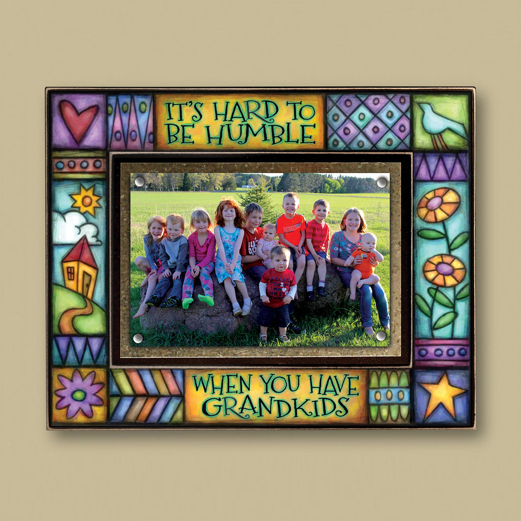 """It's Hard to be Humble When You Have Grandkids"" Photo Frame"