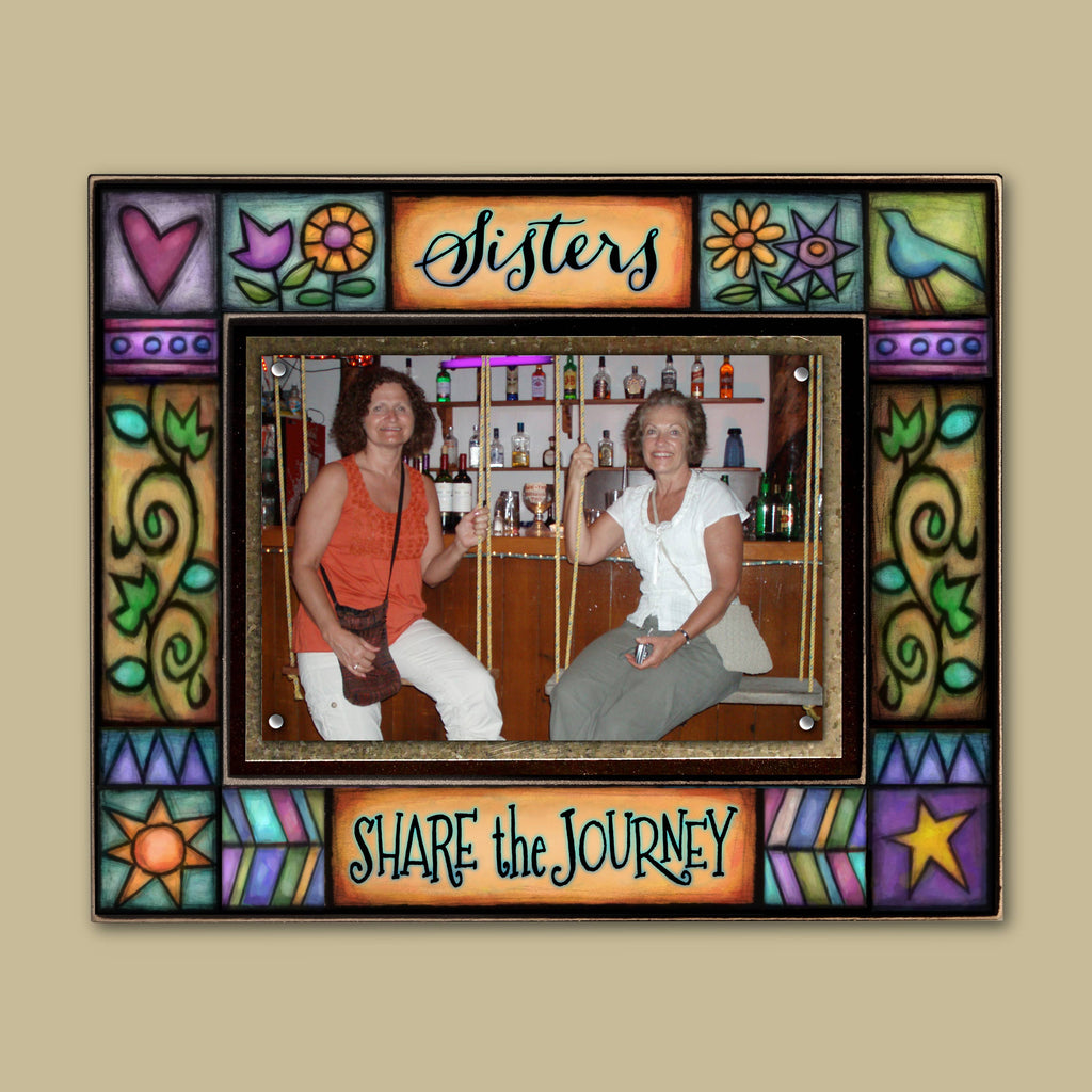 """Sisters share the journey"" Photo Frame"