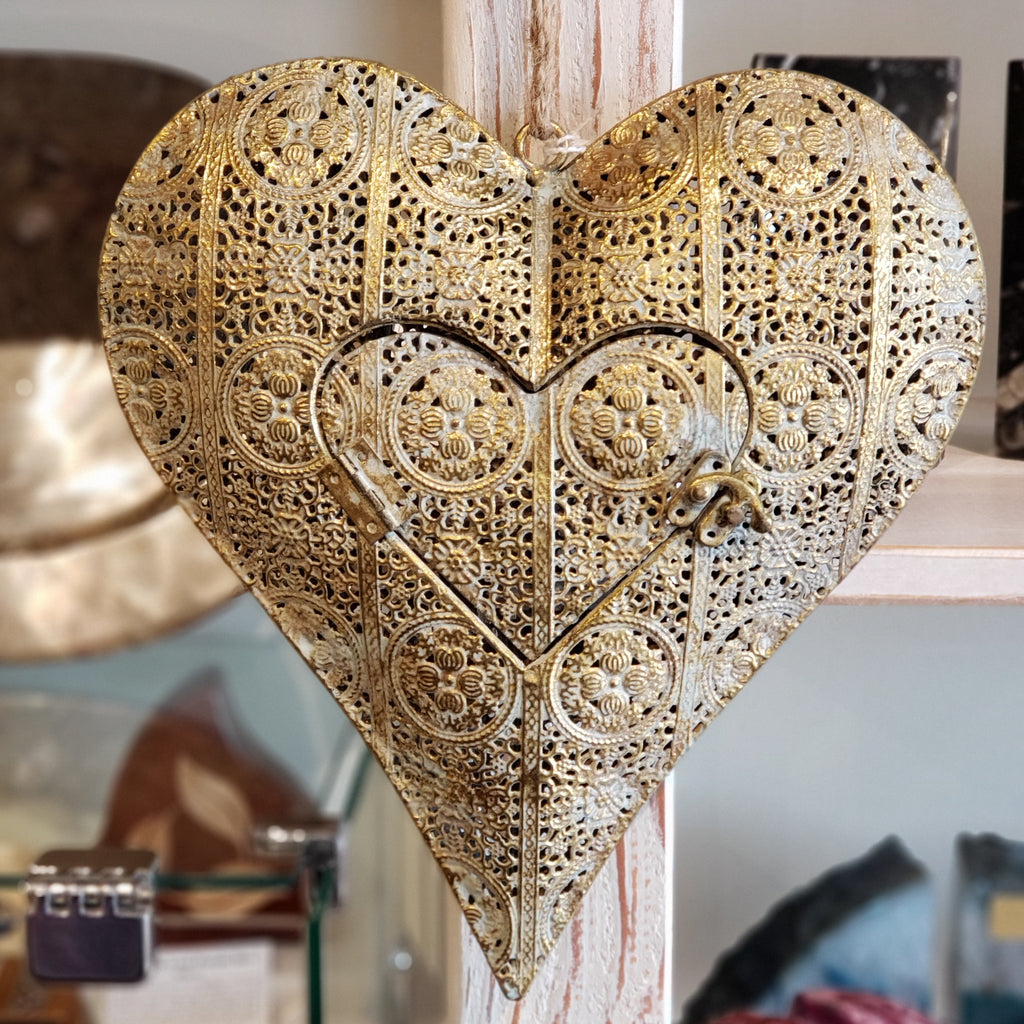 Filigree Heart Votive