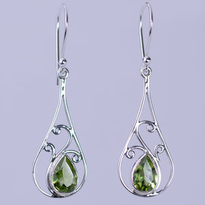 Peridot Art Nouveau Earrings