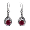 Art Nouveau Garnet Earrings