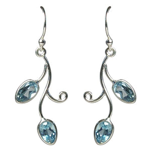 Topaz Art Nouveau Earrings