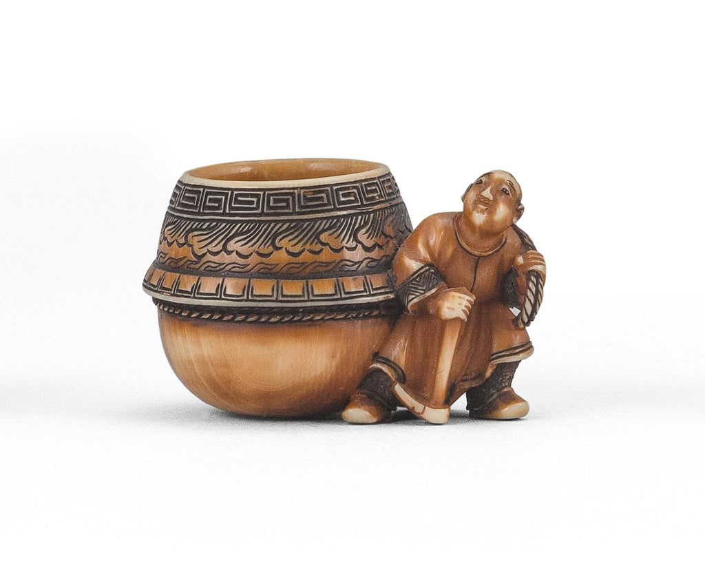 Man with Cauldron Netsuke Osaka, Edo period (1615-1868)