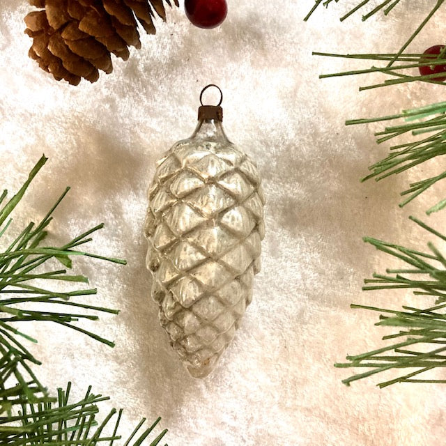 Pinecone Feather Tree Ornament 1920's
