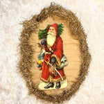 Santa Tinsel Ornament