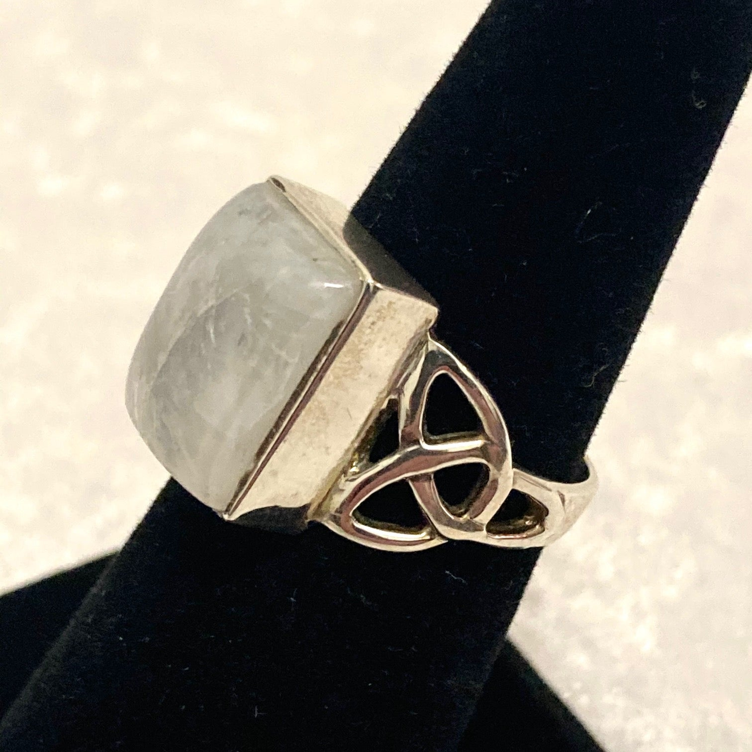 Rectangular Moonstone Ring