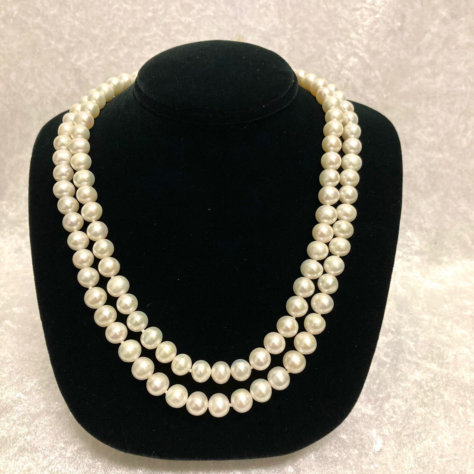 Freshwater Double Pearl Strand 36""