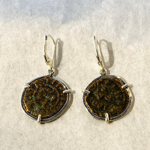 Hetoum II Crusaders Bronze Coin Earrings