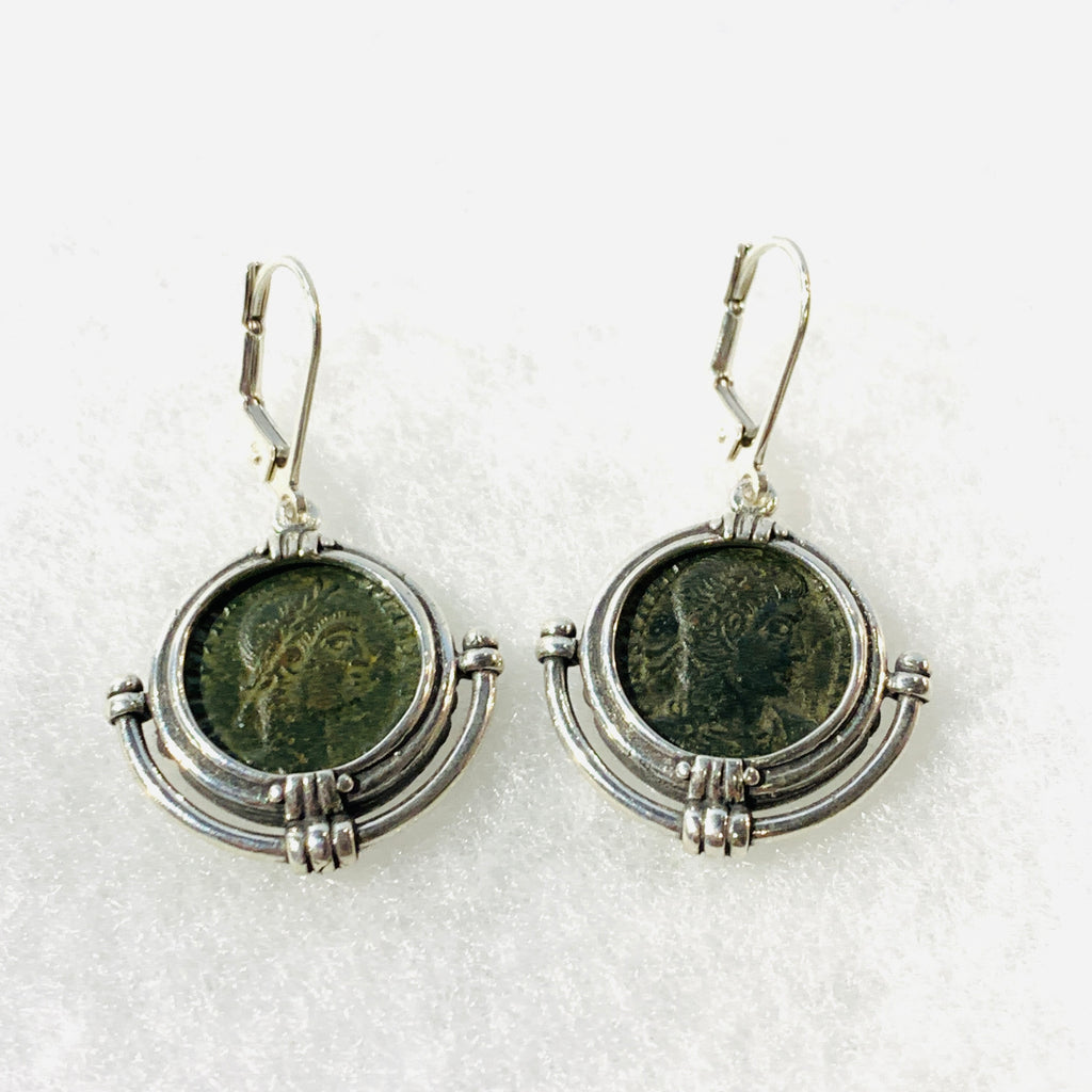 Roman 200-400CE Bronze Coin Earrings