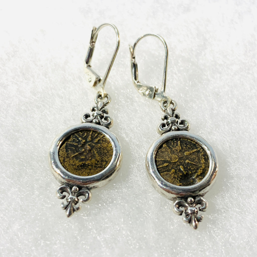 Widow's Mite Bronze Coin Earrings