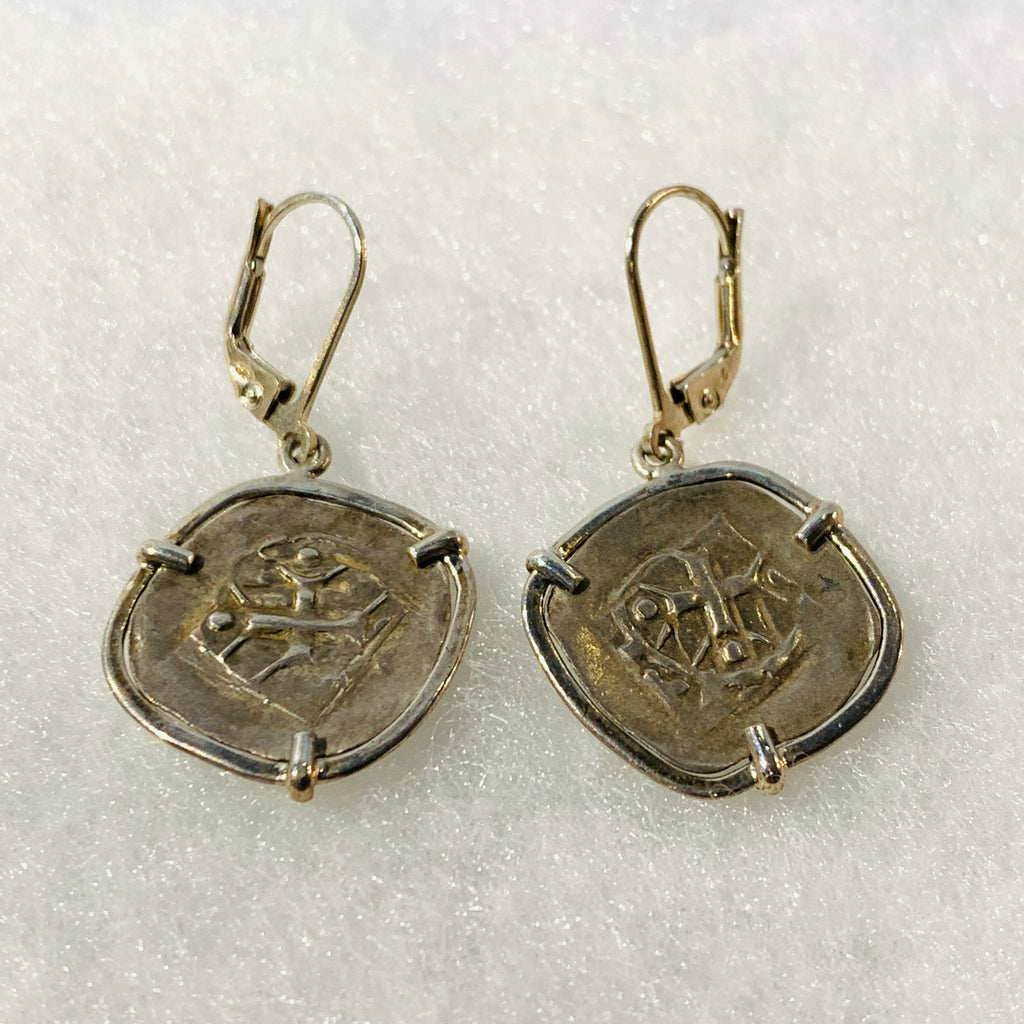 Handelsheller Medieval Silver Coin Earrings 1200-1300 AD
