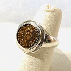 AE4 Roman Bronze Ring Size 6.5
