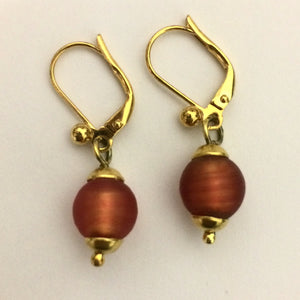 Matte Murano Bead Earrings