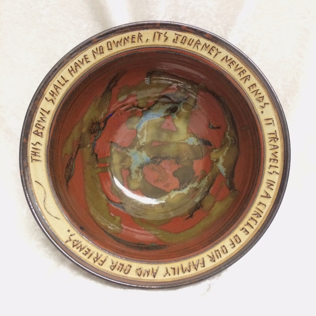 "Blessing Bowl - ""This Bowl Shall Have No Owner"""