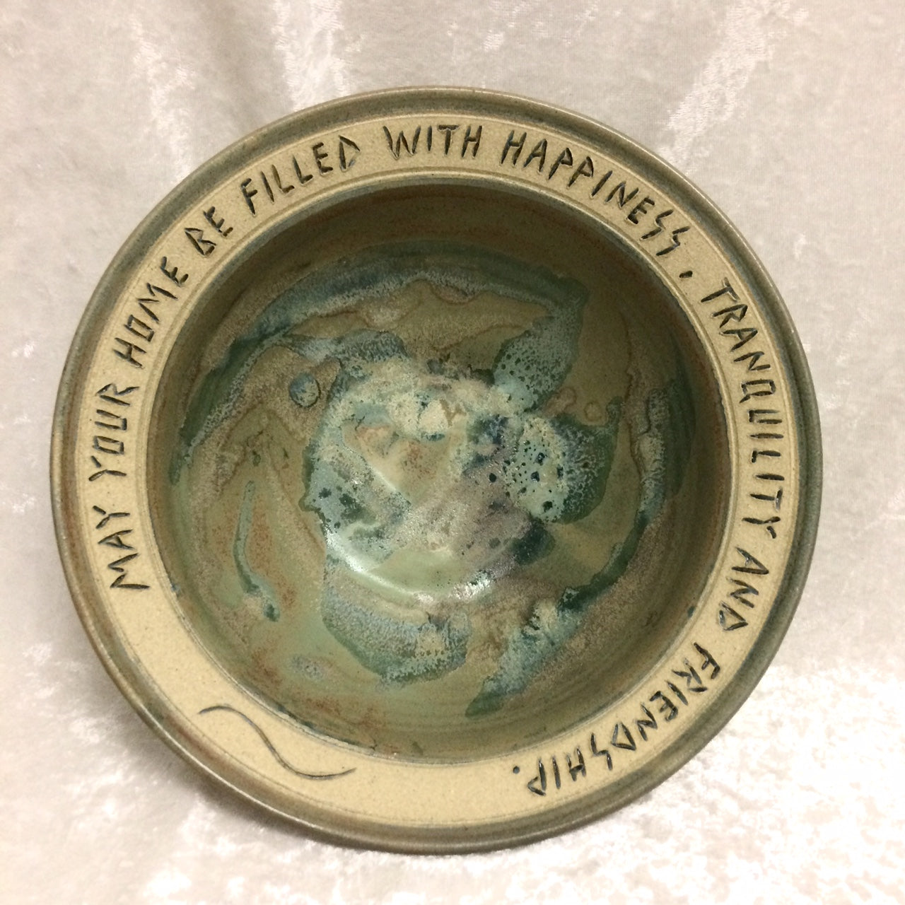 "Housewarming Bowl - ""May Your Home Be Filled"""