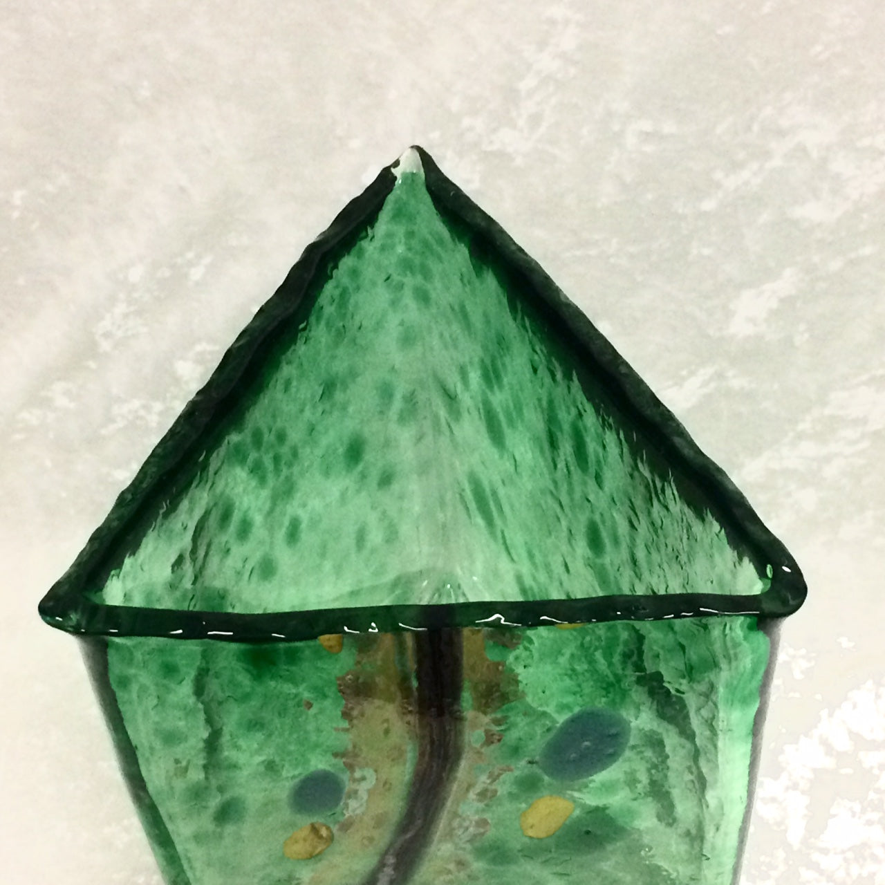 Green Triangular Vase