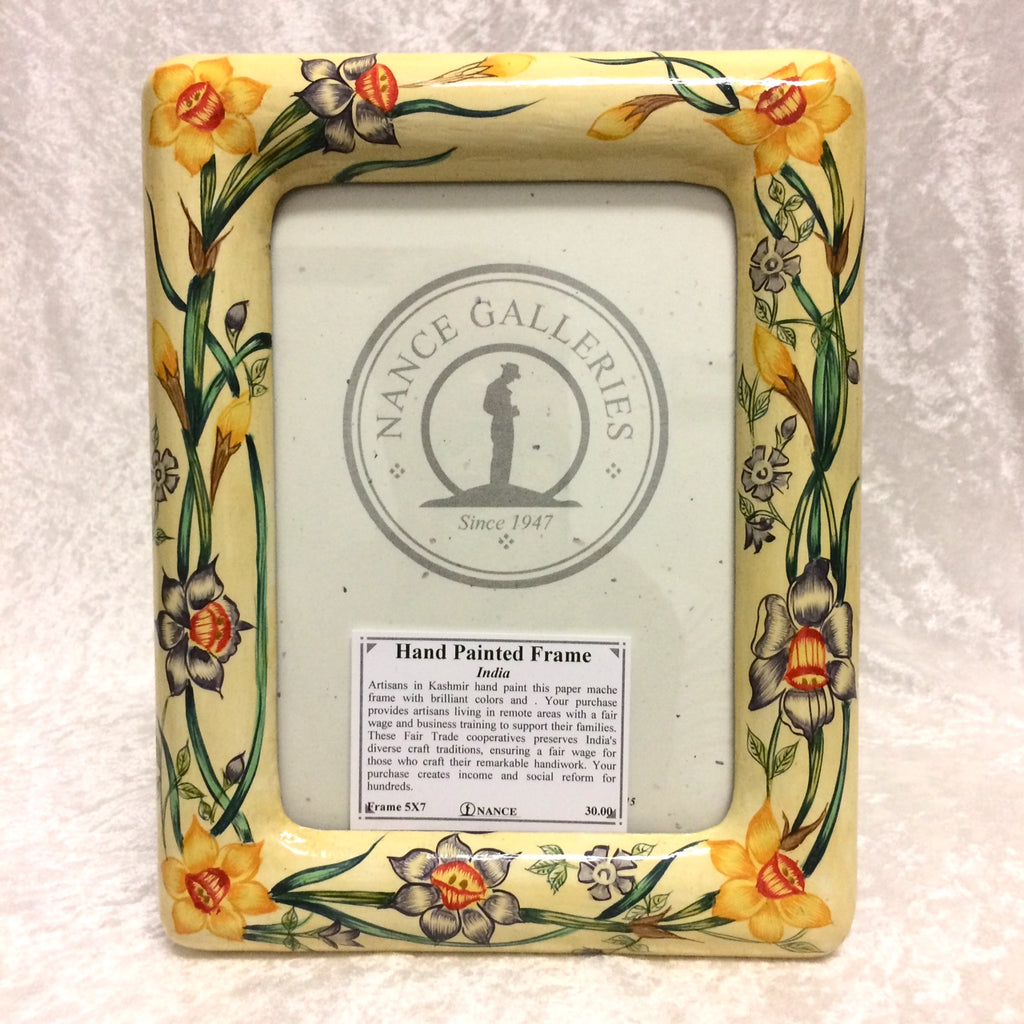 Hand Painted Floral Frame