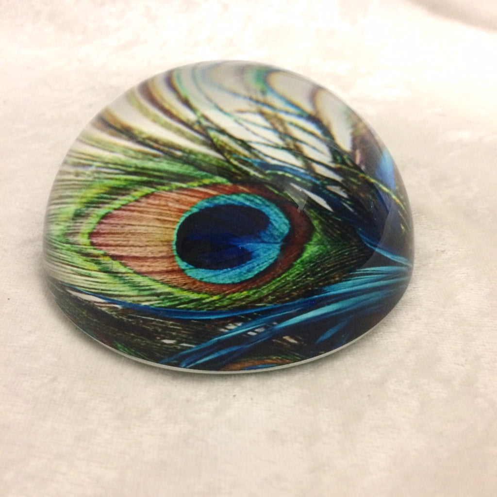 Peacock Feather Paperweight