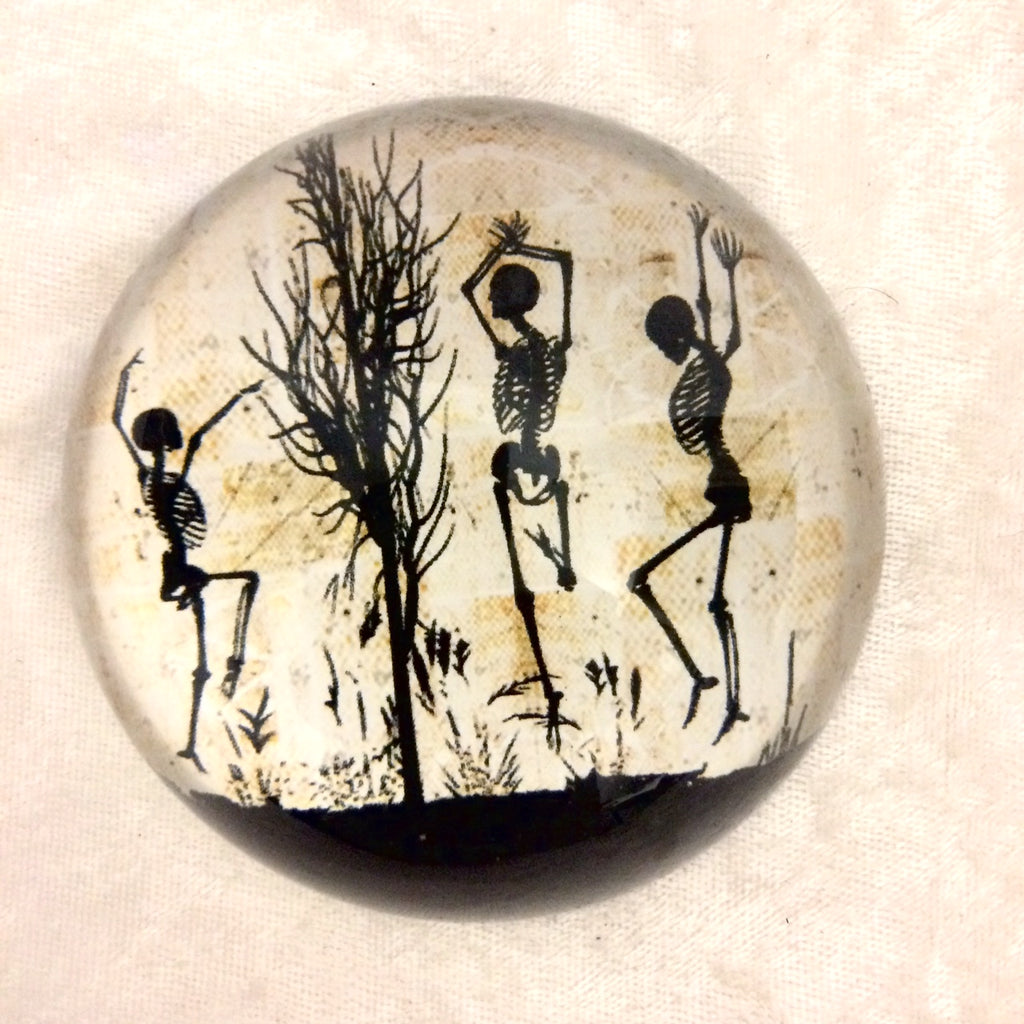 Dancing Skeletons Paperweight