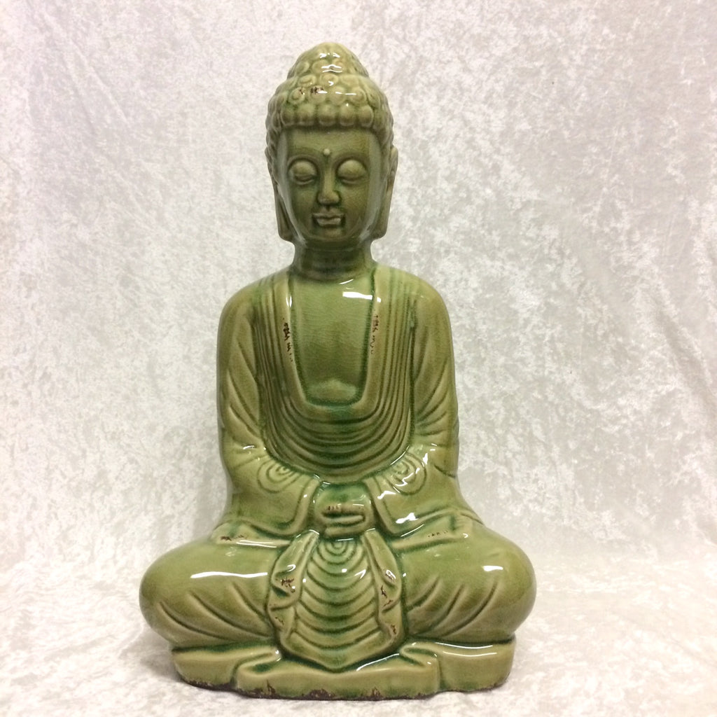 Green Sitting Buddha