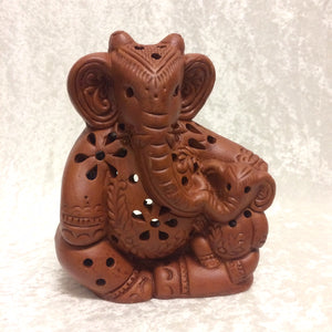 Elephant Mother & Child Tealight
