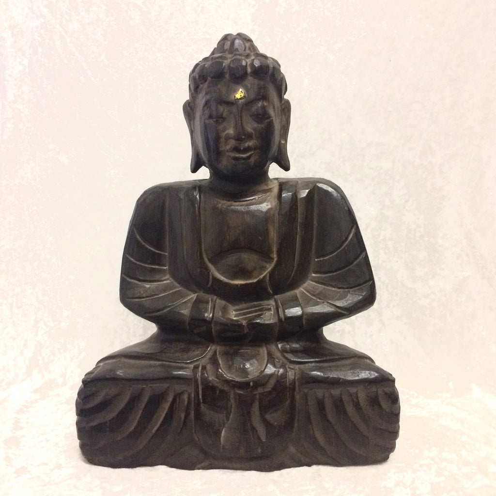Wood Sitting Buddha